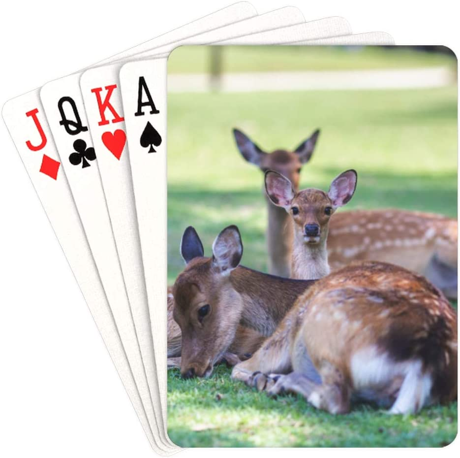 WUTMVING Girl Deck of Cards Manufacturer direct delivery Wild Nara Large-scale sale Deer Japan Park in Play