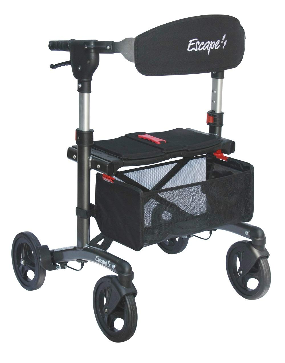 Escape Rollator Height Charcoal