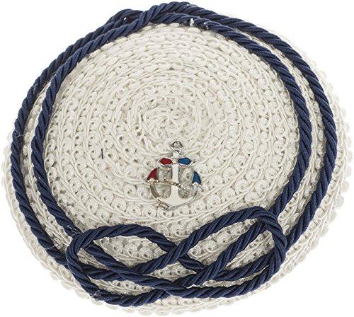 Küstenluder Damen Hütchen Abree Sailor Matrosen Pillbox Weiß Durchmesser ca. 11, 5cm