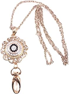 rose gold id necklace