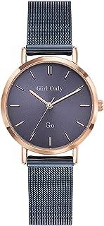 Femme Uhr Analogique Quartz mit Acier Armband 695987