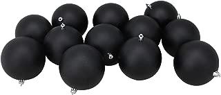 matte black ornaments balls