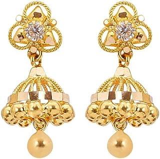 1fa5c0ae7c1358 Sree Kumaran Thangamaligai 22k (916) Yellow Gold Stud Earrings for Women