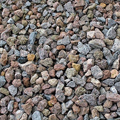 Kieskönig 25 kg Lava Steine 8-16 mm - Pflanzgranulat Schneckenschutz Lavastein Lavasteine Aquarium Dachbegrünung Lavagranulat