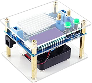 PEMENOL DC Buck Converter 5.5-30V to 0.5-30V 60W 5A Constant Current Constant Voltage Adjustable Step Up Down Power Supply Module Voltage Regulator with Cooling Fan LCD Display