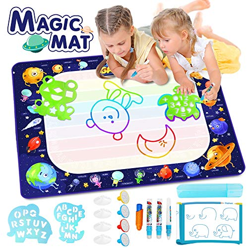 Betheaces Large Water Doodle Mat - Magic Drawing Mat Kids Toys Doodle Painting Writing Board with Magic Pens Educational Toys Gifts for Toddlers Boys Girls Age of 2 3 4 5 6 7 8 Year Old 40'x 28'