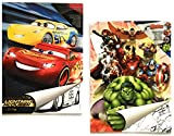 "2X Malblock & Sticker Set Din A 4 mit Disney Pixar ""Cars - Lightning McQueen"" /..."