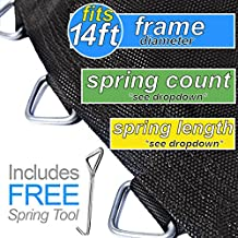 Jumping Surface for 14' Trampolines with 72 V-Rings for 7