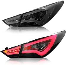 MOSTPLUS LED Tail Lights For 2011-2014 Hyundai Sonata Brake Smoke Lens Lightbar LH+RH
