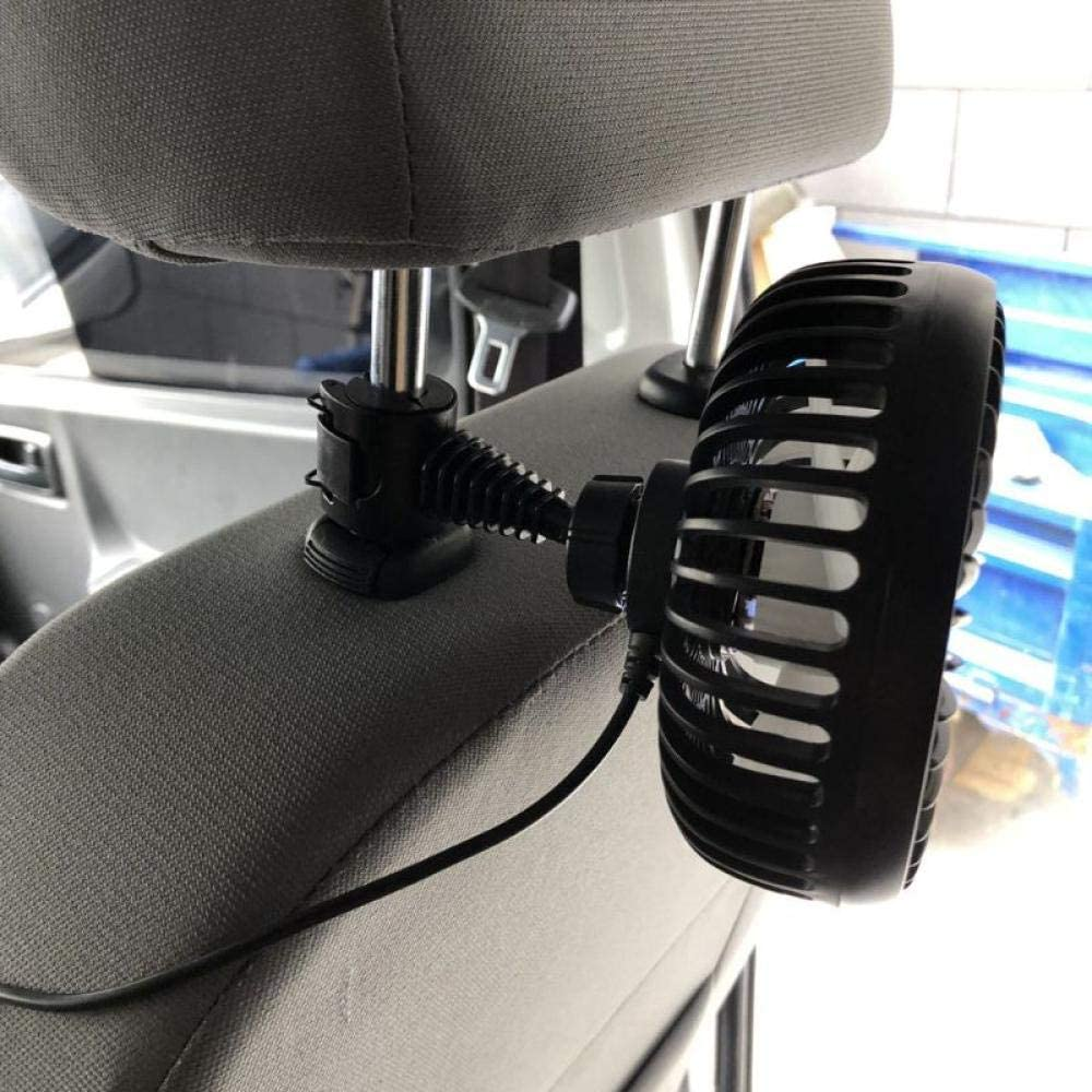 Fan portable Direct sale of manufacturer fan Universal 5 inch S Three Seat gift Back Car Headrest