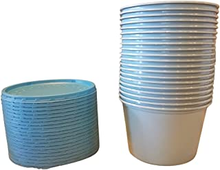 Fabri-Kal - 16 oz. Bait Holders for Live Bait   Bait Containers with Lids (Blue) 20 Count   Made from Eco-Friendly Recycle...