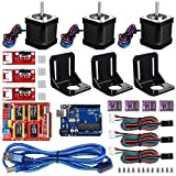 Electrobot CNC Controller 3D Printer Kit with for Arduino IDE with RAMPS 1.4 Mechanical Switch Endstop + DRV8825 Stepper Motor Driver + Nema 17 Stepper Motor