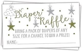 50 Twinkle Twinkle Little Star Diaper Raffle Tickets | Gender Neutral Baby Shower Game