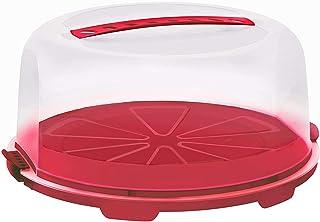 comprar comparacion Rotho Fresh, campana de alta torta con capucha y asa de transporte, Plástico PP sin BPA, rojo, transparente, 35.5 x 34.5 x...