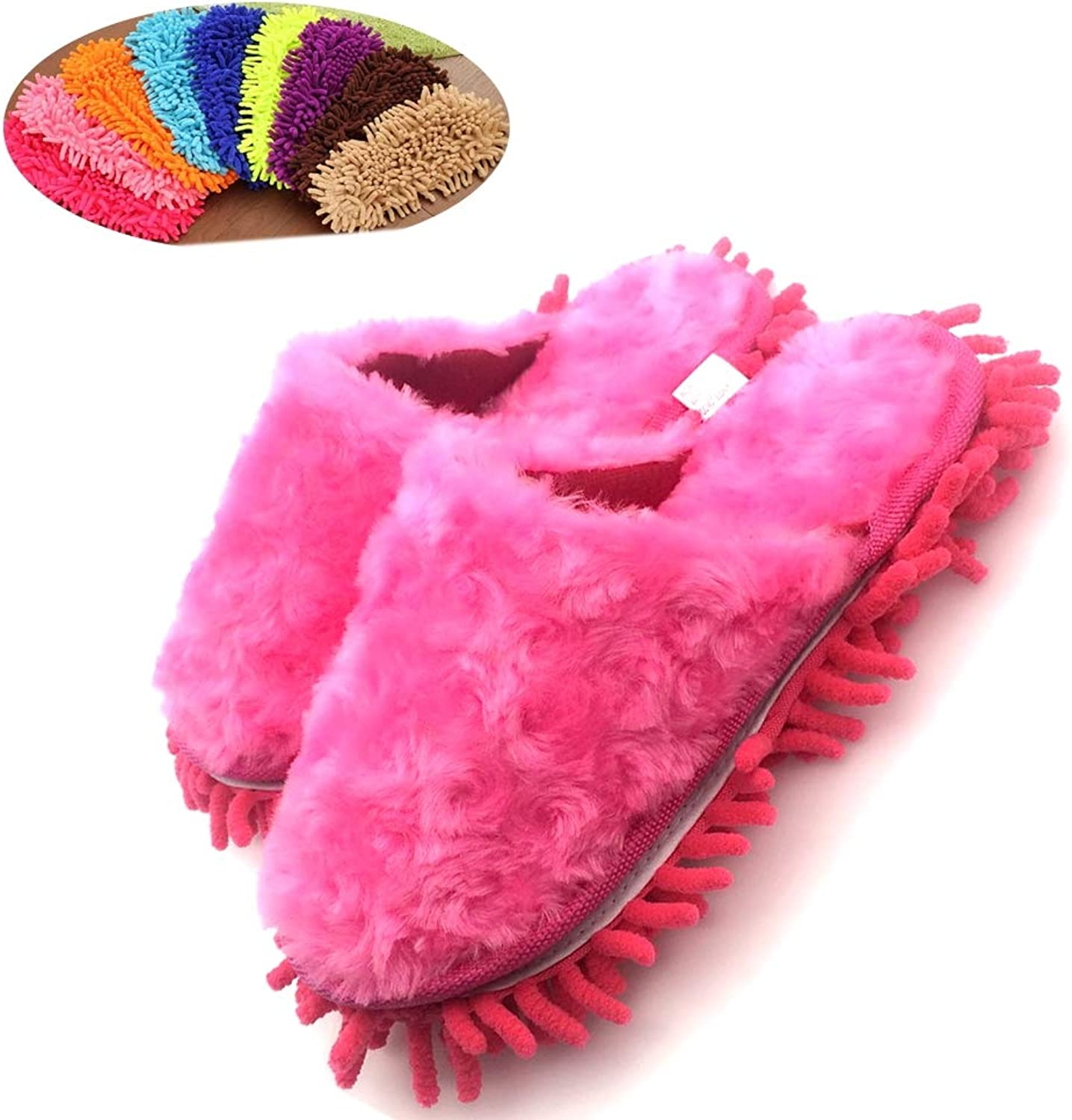 Microfiber Women's Slippers,Chenille Washable Mop Slippers,Detachable Mopping shoes,Cleaning shoes Dusting Cleaning Tool