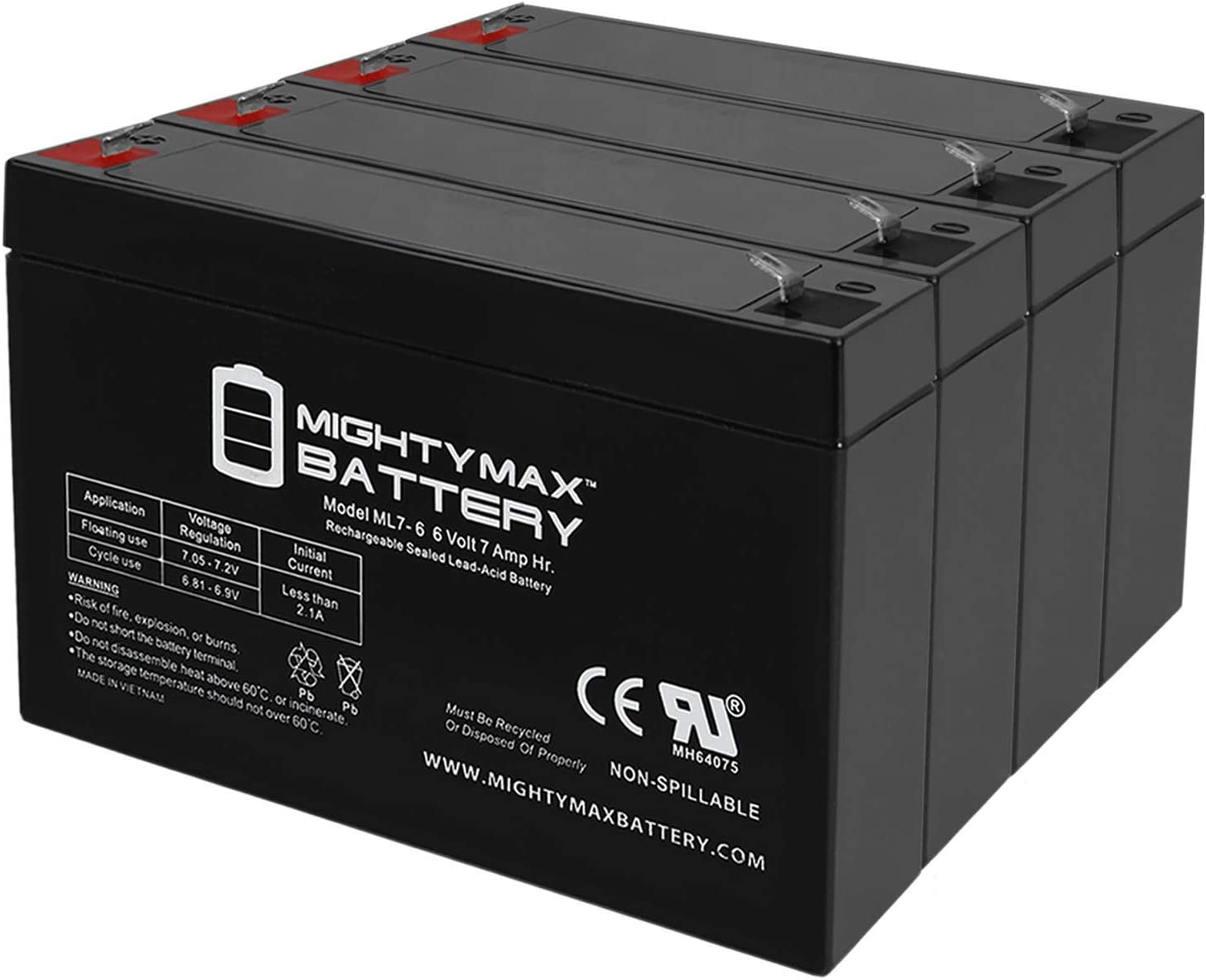 Mighty Max Battery 6V 7Ah SLA Compatible Rapid rise UPS Replacement 42% OFF