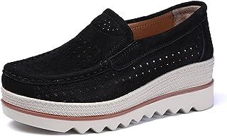 [SRECNO] カジュアルシューズスニーカードライビングシューズデッキシューズレディースカジュアルウォークライト厚底通勤靴
