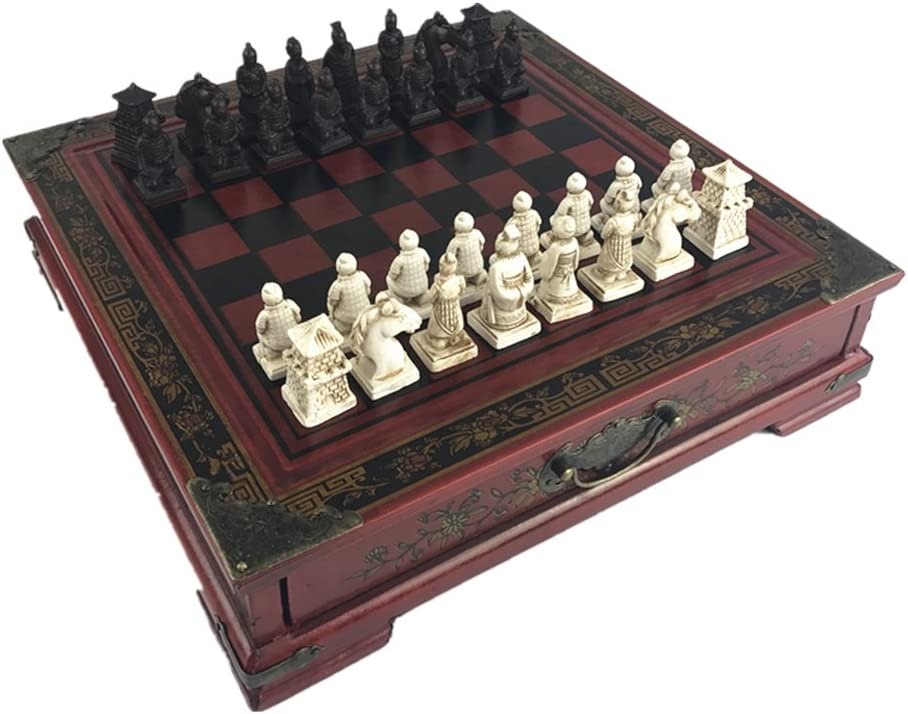 Ireav Max 64% OFF Retro Terracotta Warriors Chess Set Adults Recommendation Cl and Kids for