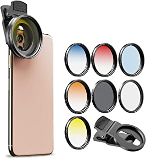 Apexel - Kit de filtros CPL (52 mm polarizador Graduado de Color filtros de Lente Profesional para cámara de Fotos y teléfonos celulares para iPhone y Samsung