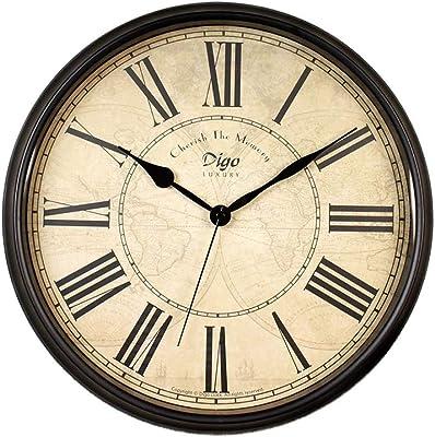 Nostalgic Quartz Clock Clock Wall Clock Living Room Creative Home Atmosphere Decoration Antique Retro Silent Clock