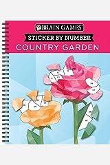 Brain Games - Sticker by Number: Country Garden (Geometric Stickers) Spiral-bound
