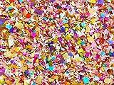 Bright Floral Multicolored Confetti Biodegradable Wedding Confetti Mix Party Decorations Decor Throwing Send Off (50g/2oz)