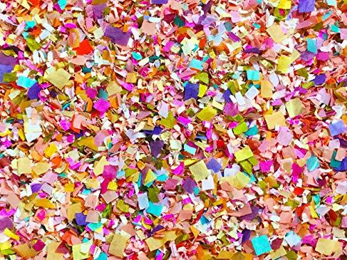 Bright Floral Multicolored Confetti Biodegradable Handmade