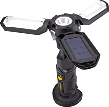 STANLEY Satsol Solar Rechargeable 500 Lumen Lithium Ion LED Satellite Work Light with USB Power Charger