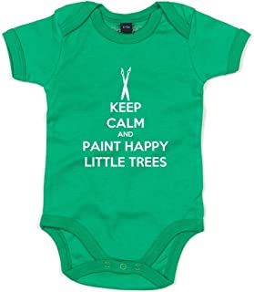 Brand88 - Keep Calm and Paint Happy Little Trees, Baby Grow