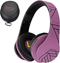 PowerLocus Bluetooth Over-Ear Headphones, Wireless Stereo Foldable Headphones Wireless and Wired Headsets with Built-in Mi...