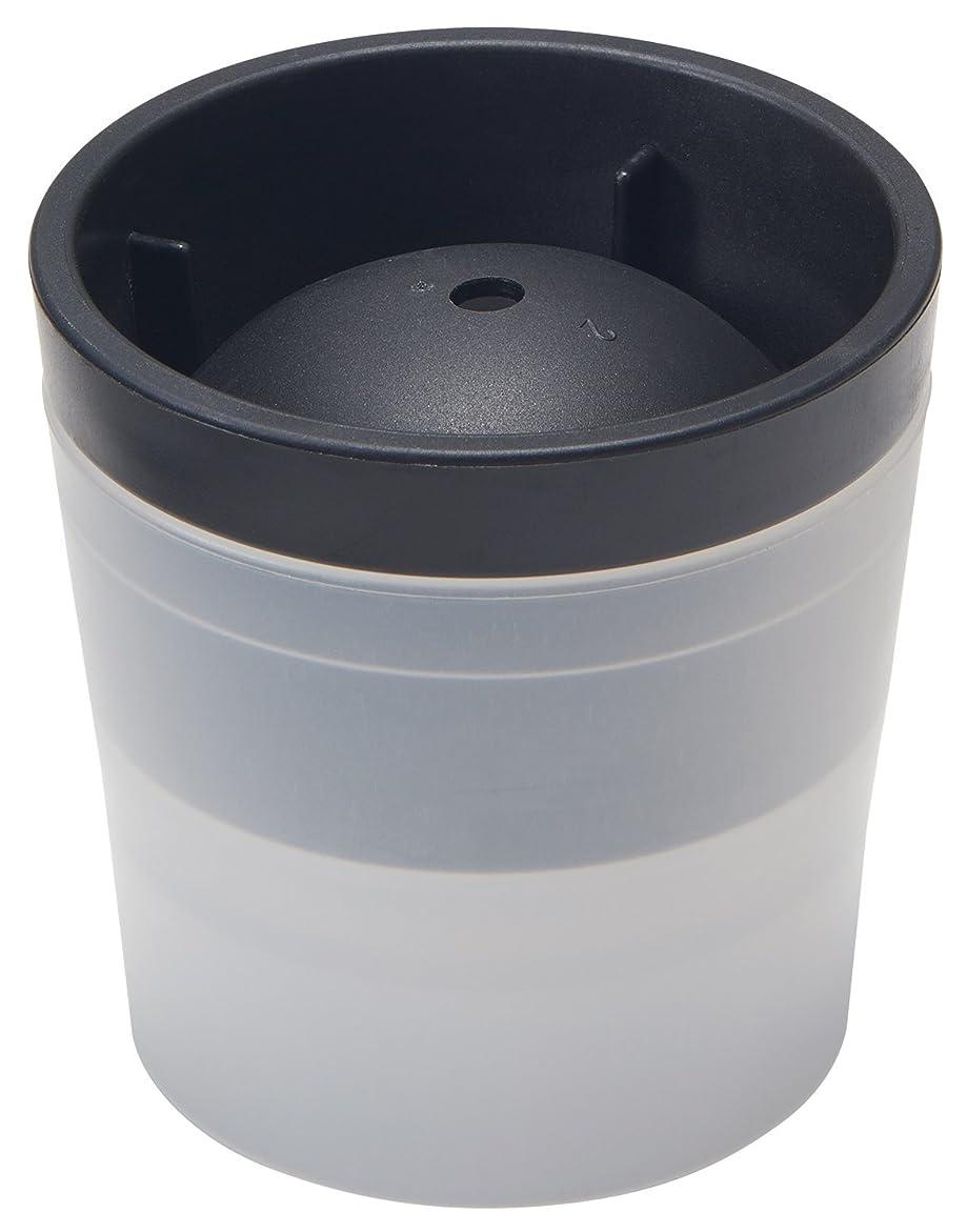 ワックス請求可能勃起like-it 丸氷 製氷器 アイスボールメーカー (俺の丸氷) ブラック 直径6cm STK-06L