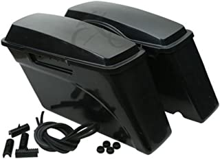 XFMT Unpainted ABS Hard Saddle Bag Saddlebag Compatible with Harley Softail Dyna Sportster Models