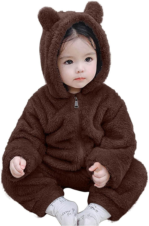 KONF Newborn Baby Coat Hoodie Winter OFFicial mail order Girls Snowsuit Boys Bear Ea It is very popular