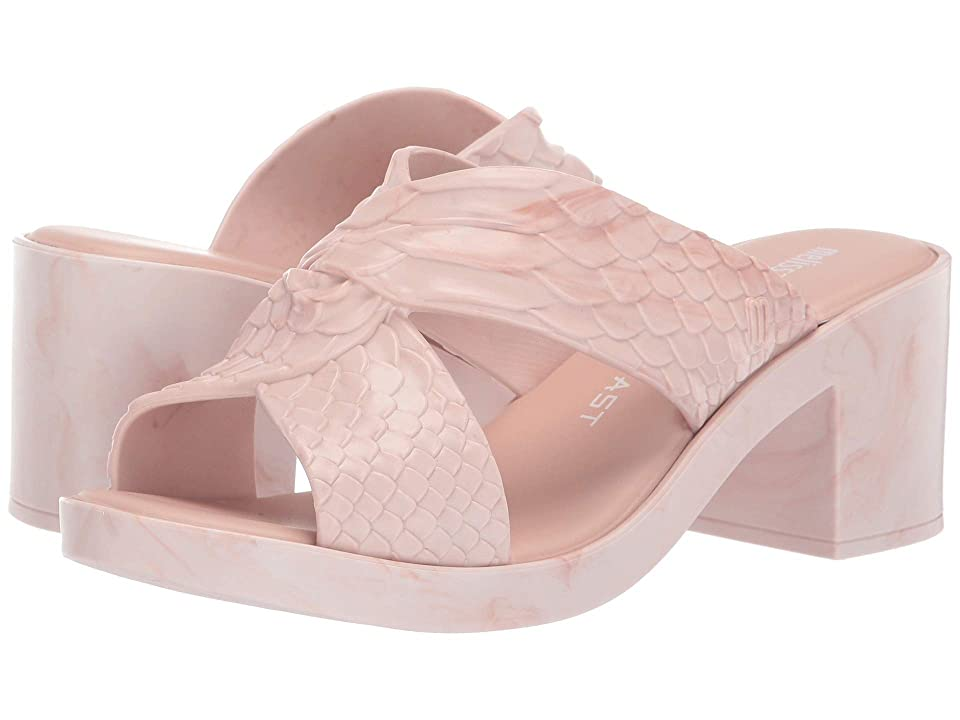 Melissa Shoes Python Heel + Baja East (Light Pink Mixed) Women