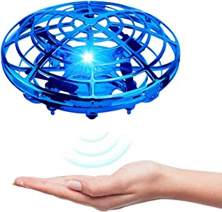VENAS SALNIER Flying Ball Toy Drones, Hand-Controlled Drone Quadcopter Flying Toys Interactive Helicopter Ball with 360°Ro...