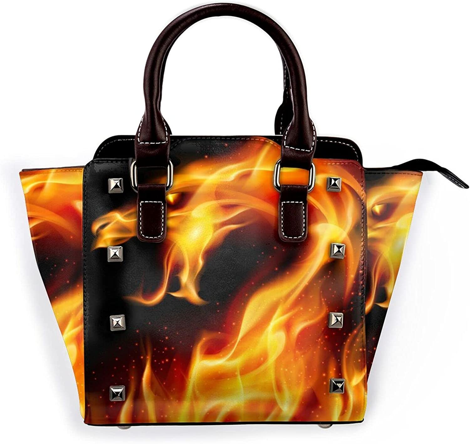 Jutdopt Abstract famous Free shipping / New Fiery Dragon Leather Crossbody B Shoulder Rivet