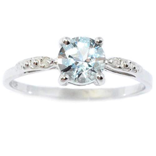 Genuine Aquamarine Ring: Amazon com