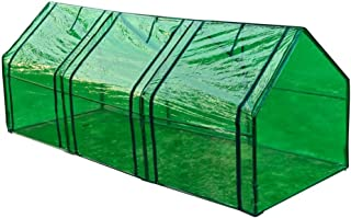 vidaXL Invernadero 3 Puertas Plantas Cultivo Marco Acero Propagador Protecci/ón