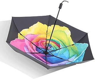 Light Parasol 94 * 57cm Polyester Fiber Vinyl Parasol Folding Rain and Rain Unisex Umbrella Portable