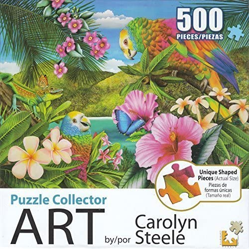 Puzzle Collector Art 500 Piece Puzzle - Parrot Island by LPF
