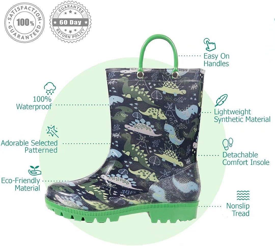 Outee Toddler Kids Lightweight Rain Boots
