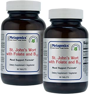 Metagenics St. John's Wort with ActiFolate and B12 60 Tablets - TwinPak