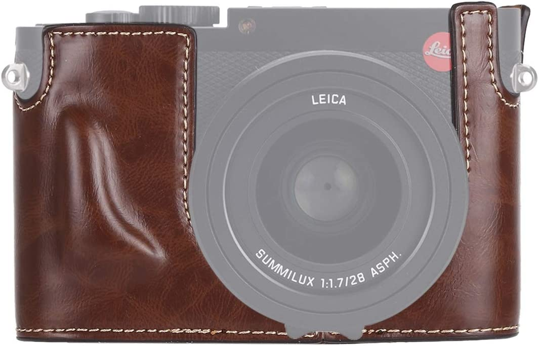 CAOMING 1 4 inch Thread Our shop most popular PU Leather Half Japan's largest assortment Camera Lei Base Case for