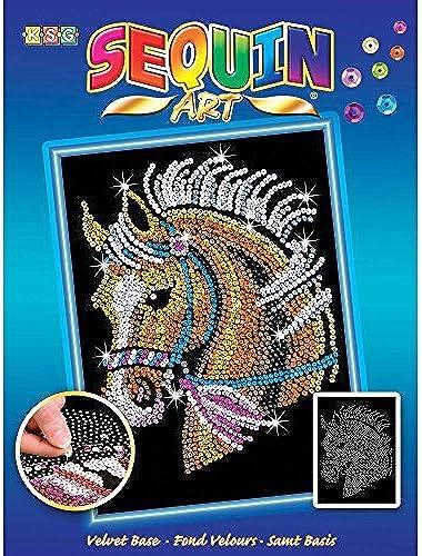 edición limitada Sequin Art azul, Horse, Sparkling Sparkling Sparkling Arts and Crafts Picture Kit by Sequin Art  más orden