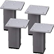 WSWJ Meubelpoten Metalen Meubelpoten Voet Aluminium Vierkante Voet Keuken Mat Vervanging Van Meubelen Benen Slaapbank Nach...