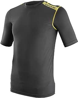 EVS Sports Unisex-Child Tug Top Short Sleeve Shirt (Black/Hi-Viz, Small/Medium)