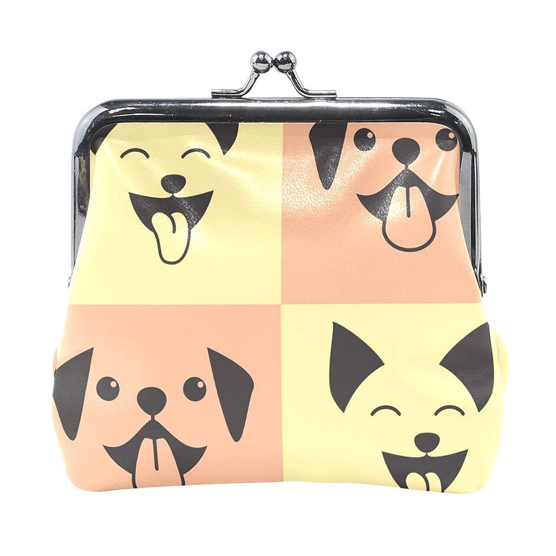 代理店不従順鼻がま口 財布 口金 小銭入れ ポーチ 柴犬 かわいい ANNSIN バッグ かわいい 高級レザー レディース プレゼント ほど良いサイズ