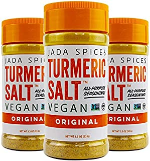 JADA Spices Turmeric Salt Spice and Seasoning - 3PACK Combo - Vegan, Keto & Paleo Friendly - Perfect for Cooking, BBQ, Gri...