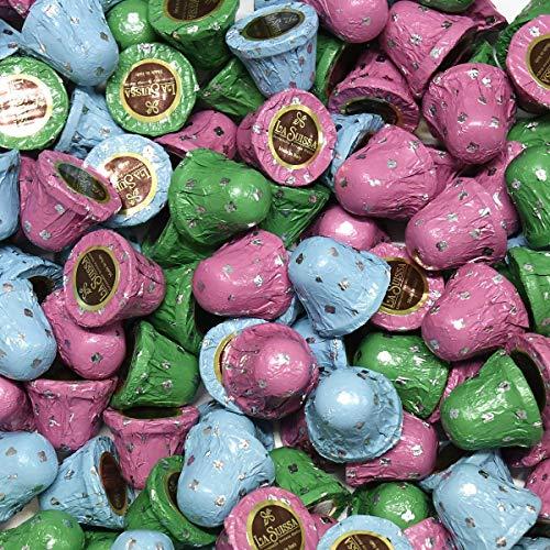 Campane di Cioccolata - Linea Ovetti di Pasqua La Suissa g 500 Praline di cioccolato al latte ripiene di morbida crema al latte - Senza Glutine