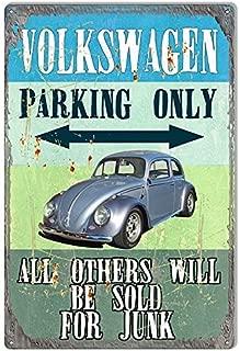 Dark Branches Volkswagen Parking Only Tin Sign, Volkswagen Parking Only Garage Shop Metal Sign, 8